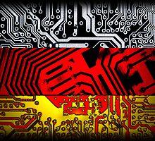circuit board germany (Flag) by sebmcnulty