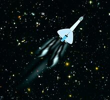 A Galactic Gunship in outer Space by Dennis Melling