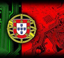 circuit board Portugal (Flag) by sebmcnulty