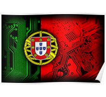 circuit board Portugal (Flag) Poster