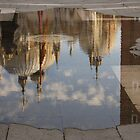 """Acqua Alta or """"High Water"""" Reflects St Mark's Cathedral in Venice by Georgia Mizuleva"""