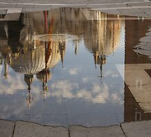 "Acqua Alta or ""High Water"" Reflects St Mark's Cathedral in Venice by Georgia Mizuleva"