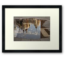 """Acqua Alta or """"High Water"""" Reflects St Mark's Cathedral in Venice Framed Print"""