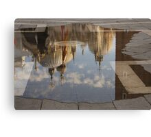 "Acqua Alta or ""High Water"" Reflects St Mark's Cathedral in Venice Canvas Print"