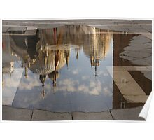 "Acqua Alta or ""High Water"" Reflects St Mark's Cathedral in Venice Poster"