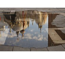 "Acqua Alta or ""High Water"" Reflects St Mark's Cathedral in Venice Photographic Print"