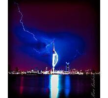 Spinnaker Lightning   Photographic Print