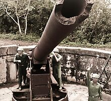 Cannon fort, Cat Ba, Vietnam by Tim Topping