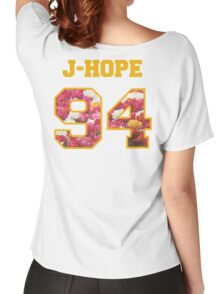 BTS- J-HOPE 94 Line Flower Design Women's Relaxed Fit T-Shirt