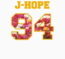 BTS- J-HOPE 94 Line Flower Design Women's Fitted V-Neck T-Shirt