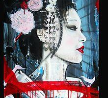 Geisha iPhone Case (Original Color) by Tim Miklos