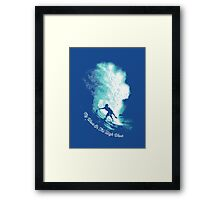My Wave Or The High Wave Framed Print