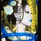 Geisha Phone Case (Blue & Yellow) by Tim Miklos