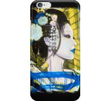 Geisha Phone Case (Blue & Yellow) iPhone Case/Skin