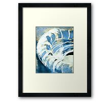 black ink top Framed Print