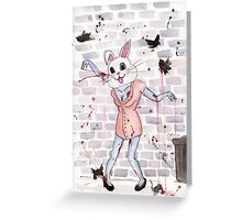 Zombie Bunny Hooker Greeting Card