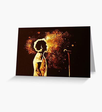 Glowing Louis Tomlinson Greeting Card