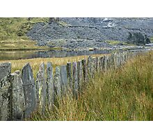 A slate fence Photographic Print