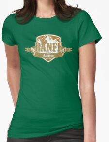 Banff Alberta Ski Resort Womens Fitted T-Shirt