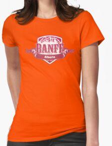 Banff Alberta Ski Resort Womens Fitted T-Shirt