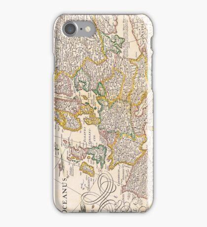 Vintage Antique Map of Europe Circa 1652 iPhone Case/Skin