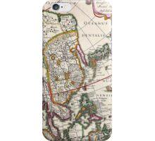 Vintage Antique Map of Asia Circa 1632 iPhone Case/Skin