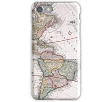 Vintage Antique Map of America Circa 1746 iPhone Case/Skin