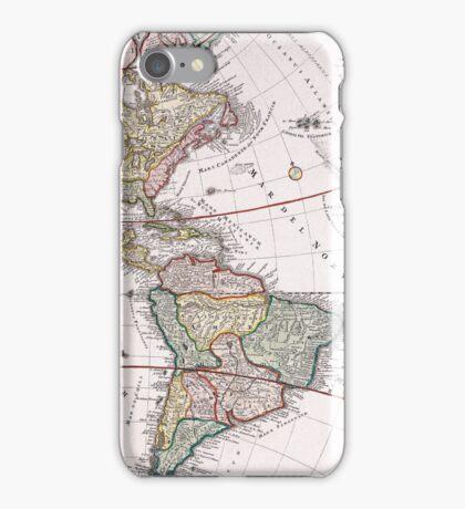Vintage Antique Map of America Circa 1746 iPhone Case/Skin