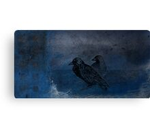Two little crows blue sky dark night Canvas Print