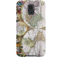 Vintage Antique French Map of the Hemispheres Samsung Galaxy Case/Skin