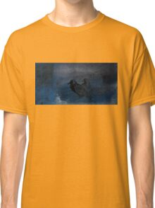 Two little crows blue sky dark night Classic T-Shirt