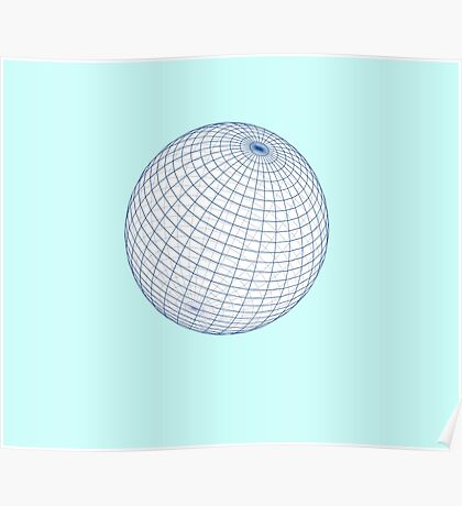 Perfect Sphere Duvet Cover Quilt - Grid Globe Pillow Poster