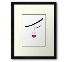 Bordo lips Framed Print
