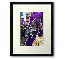 Folk Dancing Diablada Corso Wong Framed Print