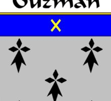 Guzman Coat of Arms/Family Crest Sticker