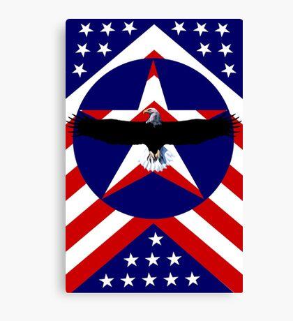 American, wings Canvas Print