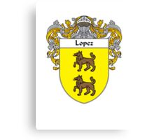 Lopez Coat of Arms/Family Crest Canvas Print