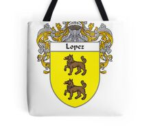 Lopez Coat of Arms/Family Crest Tote Bag