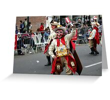 Folk Dancing Majeños Corso Wong Greeting Card