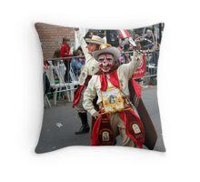 Folk Dancing Majeños Corso Wong Throw Pillow