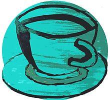tea cup in green by sebmcnulty
