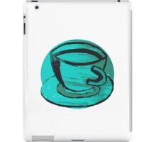 tea cup in green iPad Case/Skin