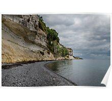 Limestone slopes at Stevns, Denmark Poster