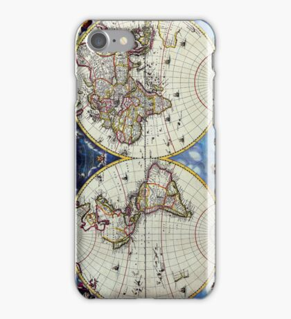 Antique Vintage Map of the Known World Circa 1630 iPhone Case/Skin