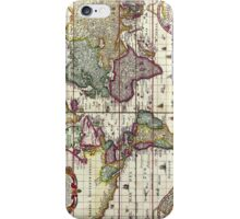 Antique Vintage Map of the Americas iPhone Case/Skin