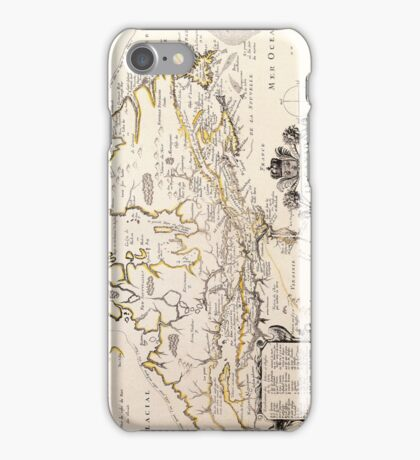 Antique Vintage Map of Canada Circa 1655 iPhone Case/Skin
