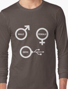 Male, Female, Geek Long Sleeve T-Shirt