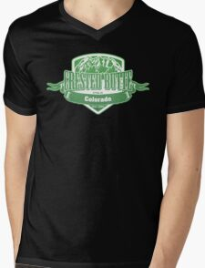 Crested Butte Colorado Ski Resort Mens V-Neck T-Shirt