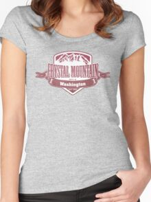 Crystal Mountain Washington Ski Resort Women's Fitted Scoop T-Shirt