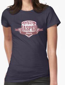 Jasper Alberta Ski Resort Womens Fitted T-Shirt